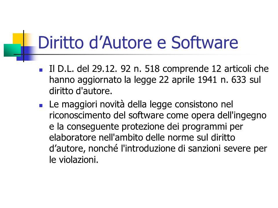 Diritto d'Autore e Software