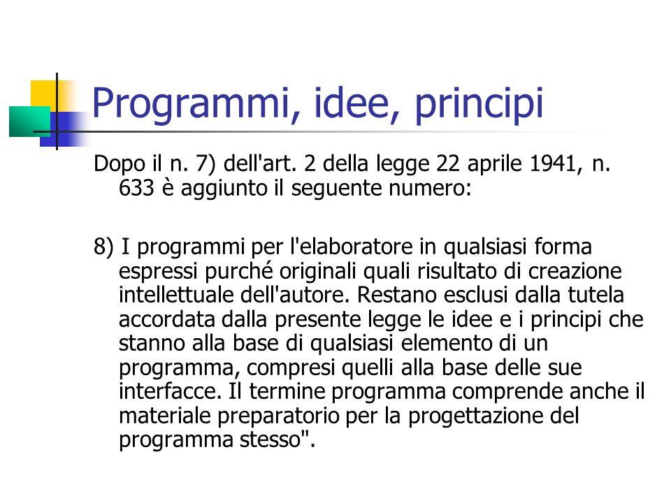 Programmi, idee, principi