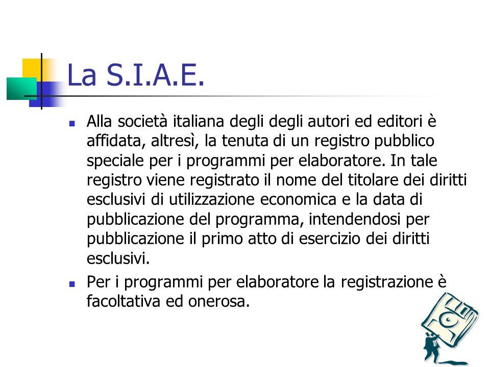 La S.I.A.E.
