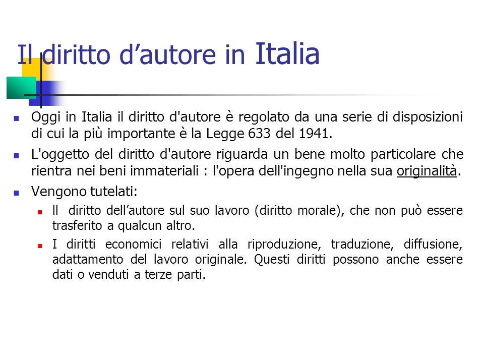 Il diritto d'autore in Italia