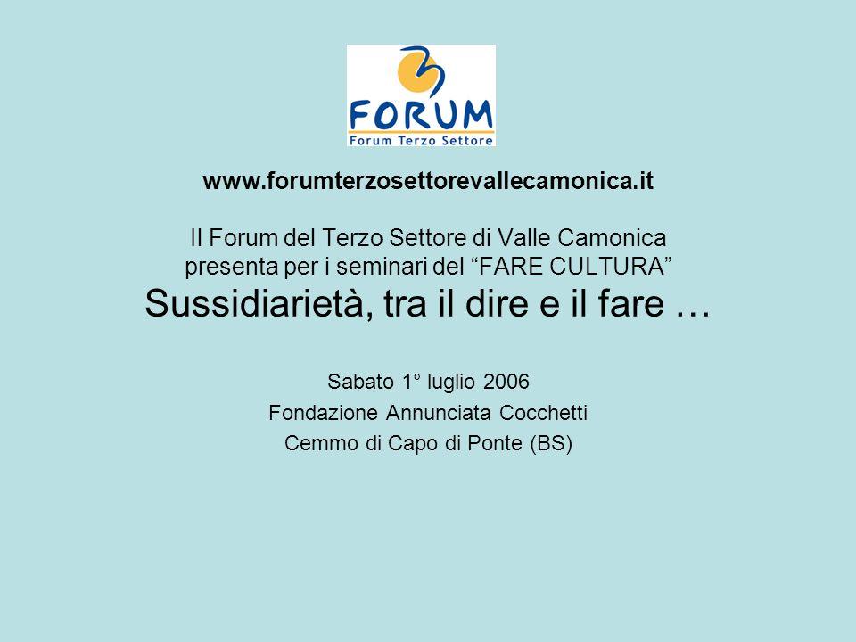 www. forumterzosettorevallecamonica