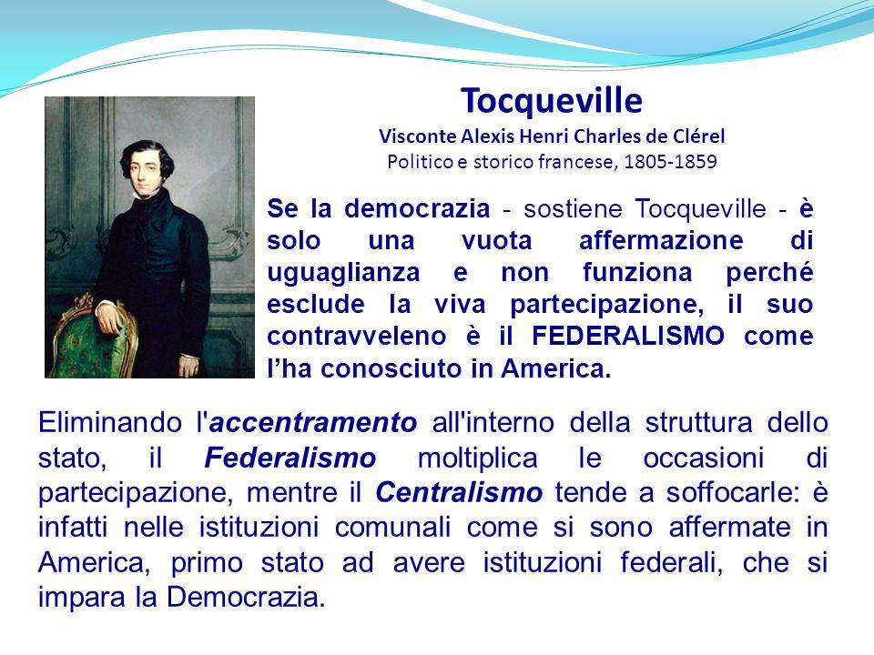 Tocqueville Visconte Alexis Henri Charles de Clérel Politico e storico francese, 1805-1859