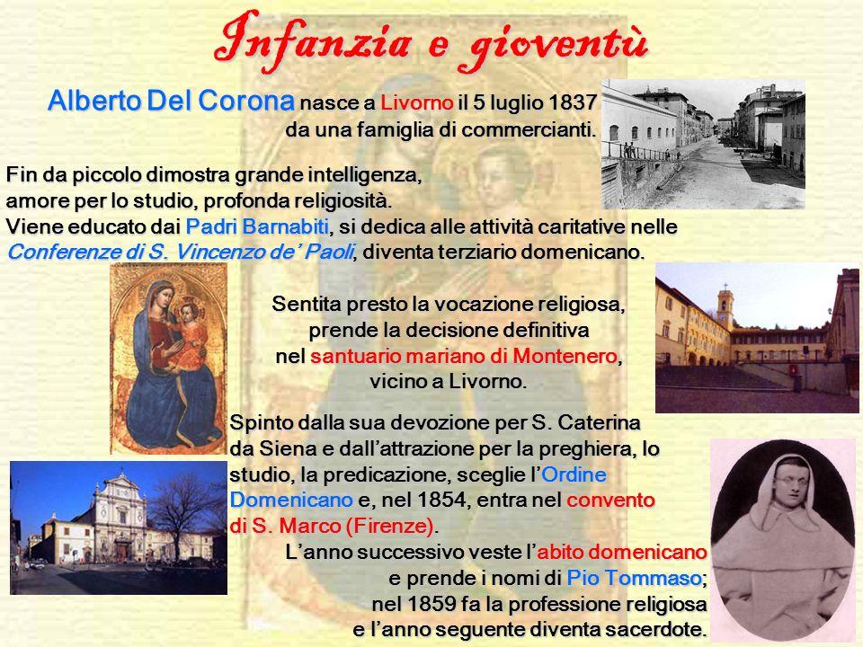 Infanzia e gioventù Alberto Del Corona nasce a Livorno il 5 luglio 1837 da una famiglia di commercianti.