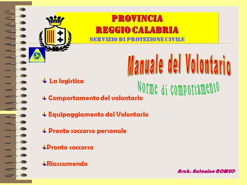 PROVINCIA REGGIO CALABRIA Servizio di protezione civile