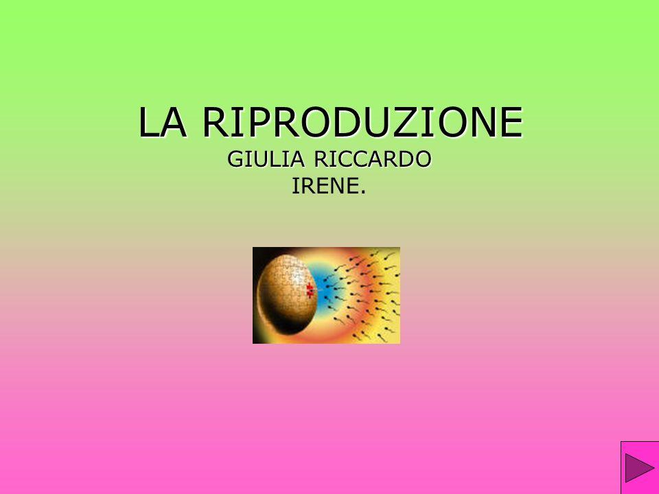 LA RIPRODUZIONE GIULIA RICCARDO IRENE.