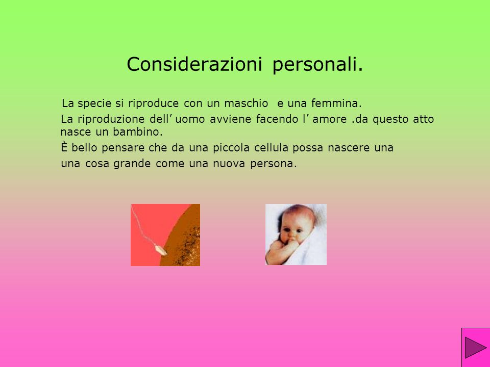 Considerazioni personali.
