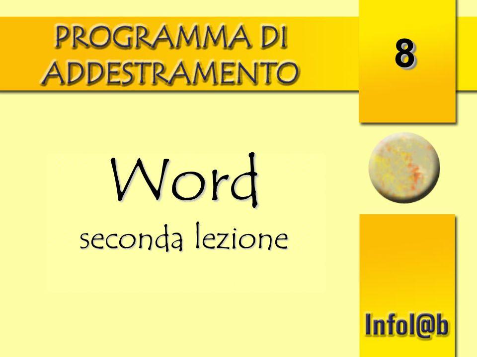8 Word seconda lezione