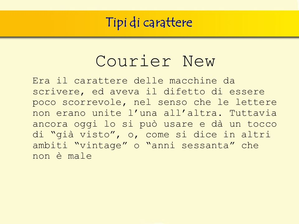 Courier New Tipi di carattere
