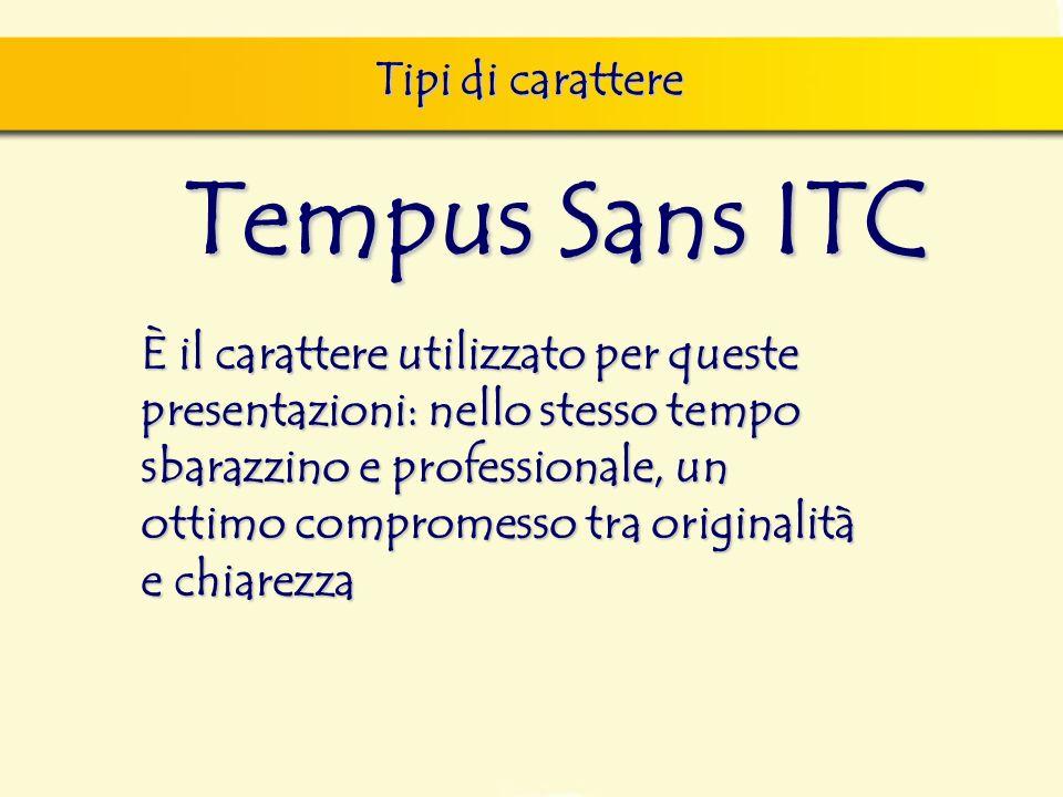 Tempus Sans ITC Tipi di carattere