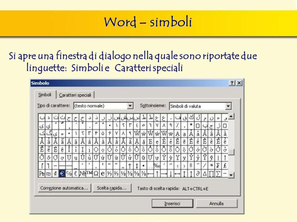 8 word seconda lezione ppt scaricare for Disegno una finestra testo