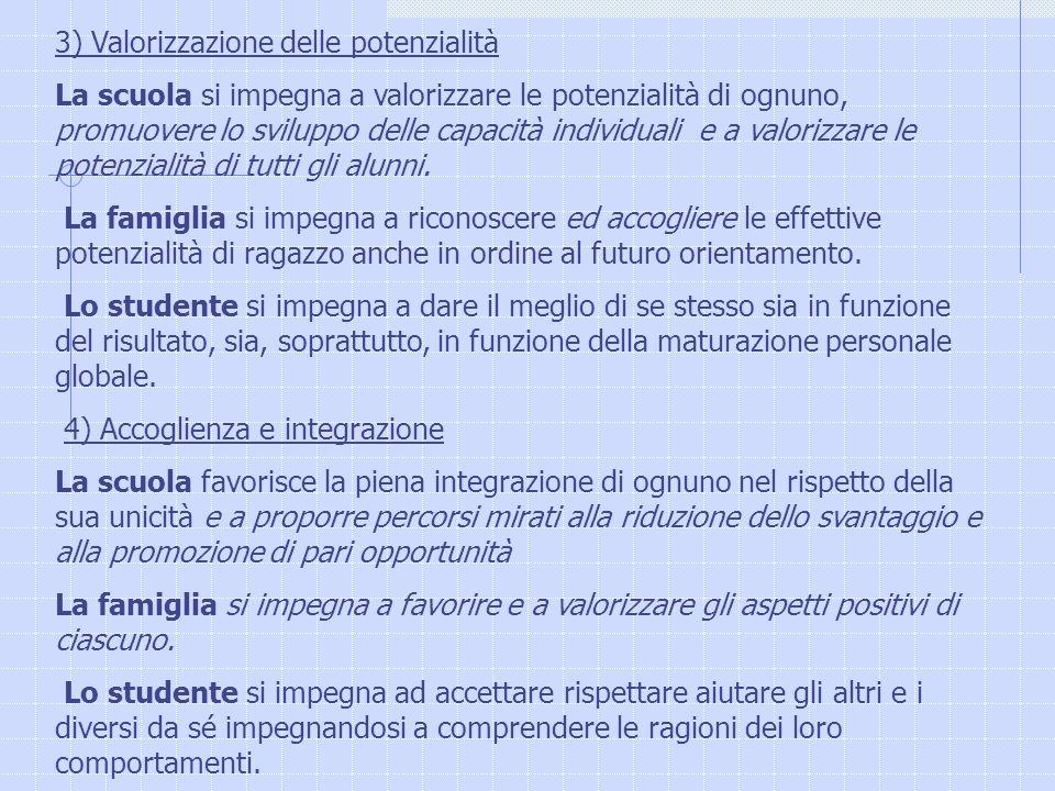 3) Valorizzazione delle potenzialità