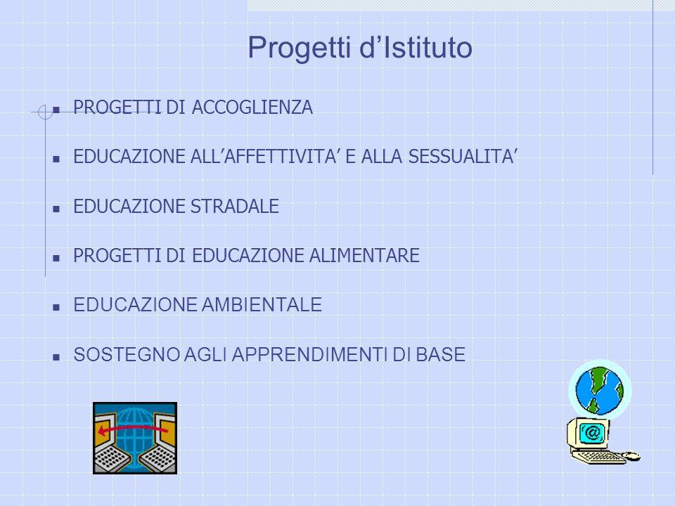 Progetti d'Istituto PROGETTI DI ACCOGLIENZA
