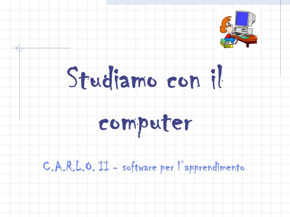 Studiamo con il computer C.A.R.L.O. II - software per l'apprendimento