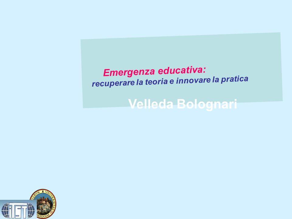 Velleda Bolognari recuperare la teoria e innovare la pratica