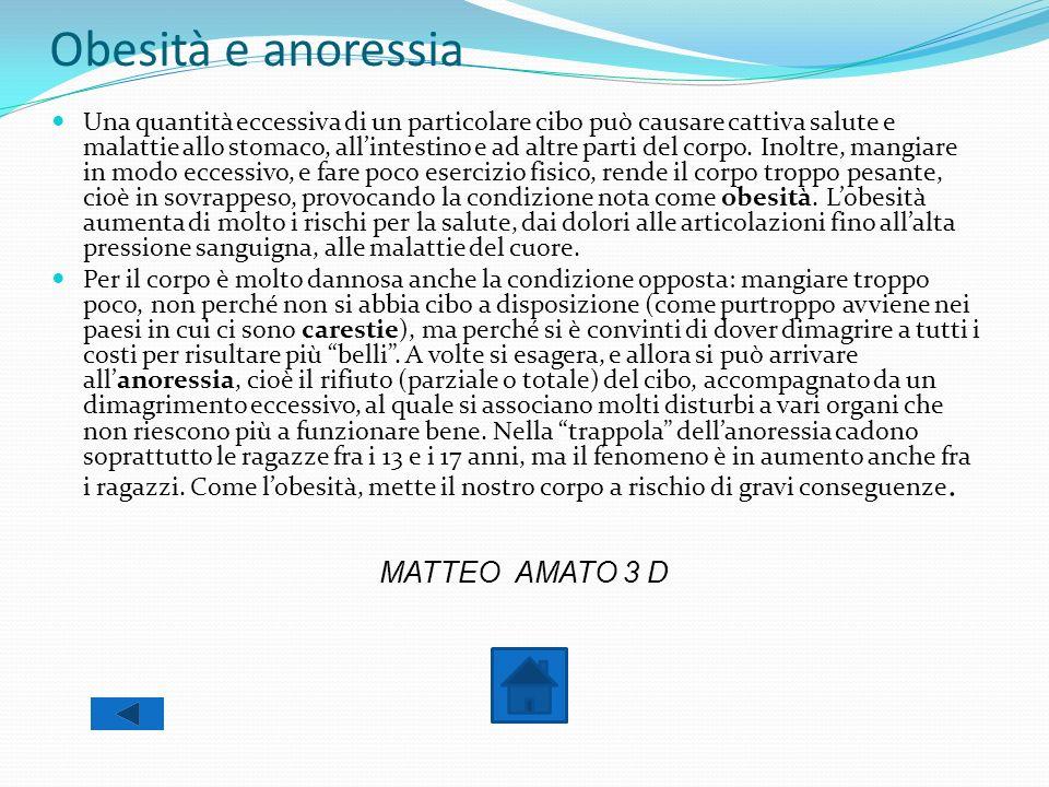 Obesità e anoressia MATTEO AMATO 3 D