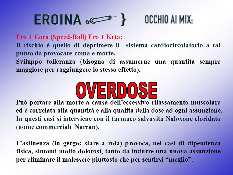 OVERDOSE Ero + Coca (Speed-Ball) Ero + Keta: