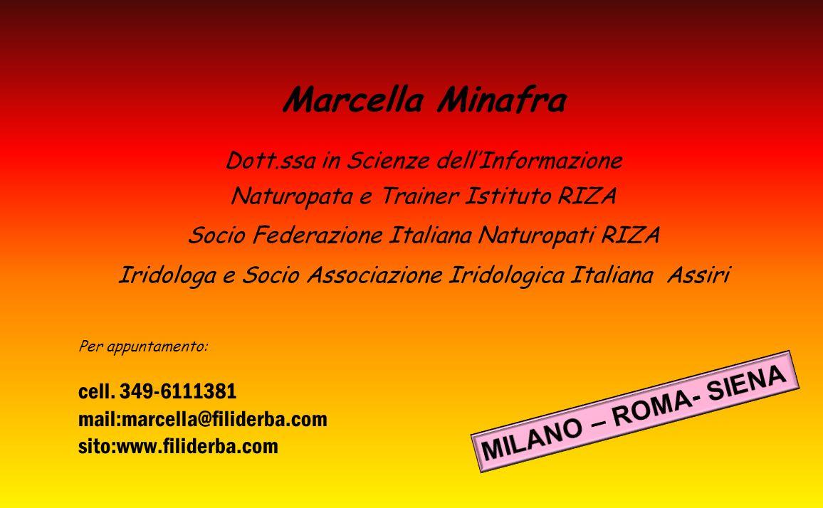Marcella Minafra MILANO – ROMA- SIENA