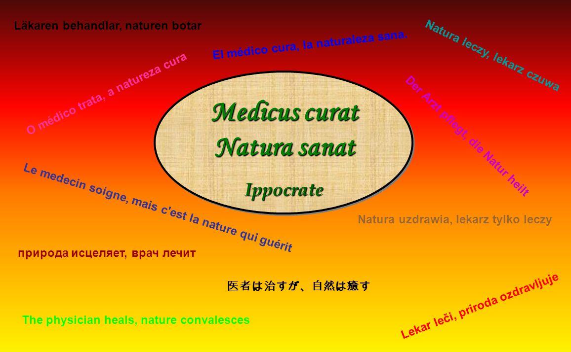 Medicus curat Natura sanat Läkaren behandlar, naturen botar