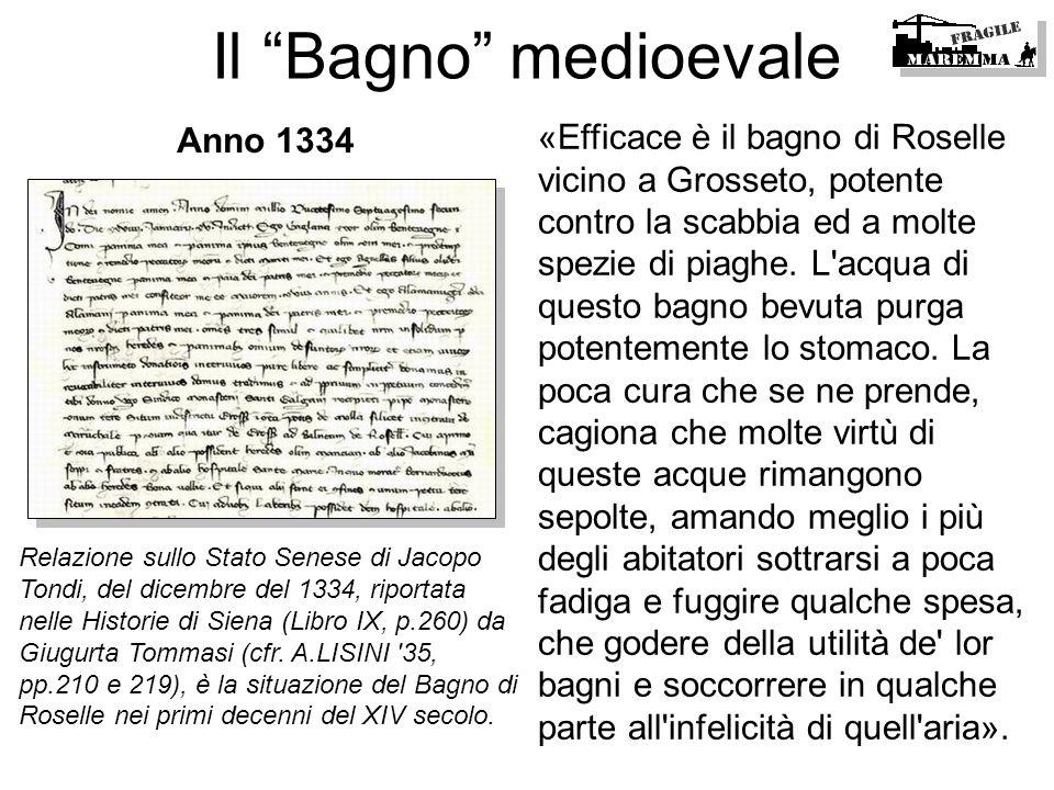 Il Bagno medioevaleAnno 1334.