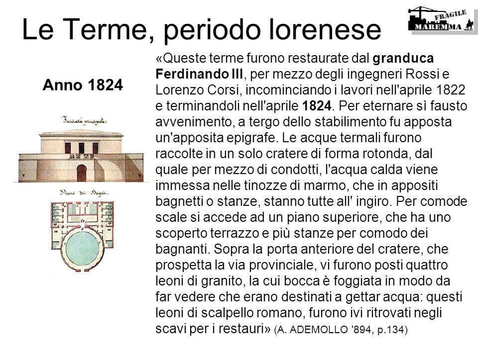 Le Terme, periodo lorenese