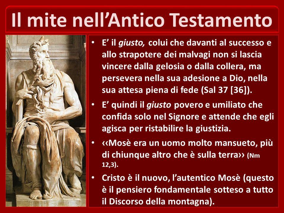 Il mite nell'Antico Testamento