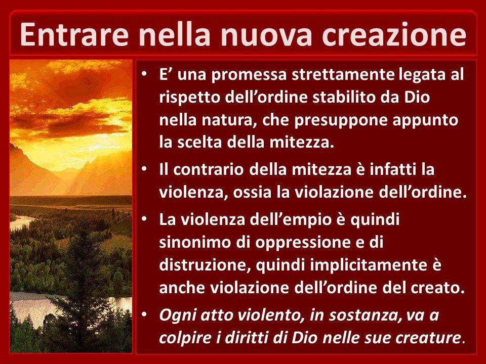 Entrare nella nuova creazione