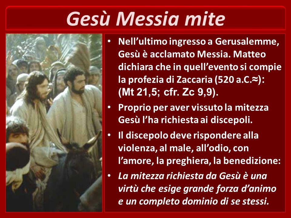 Gesù Messia mite