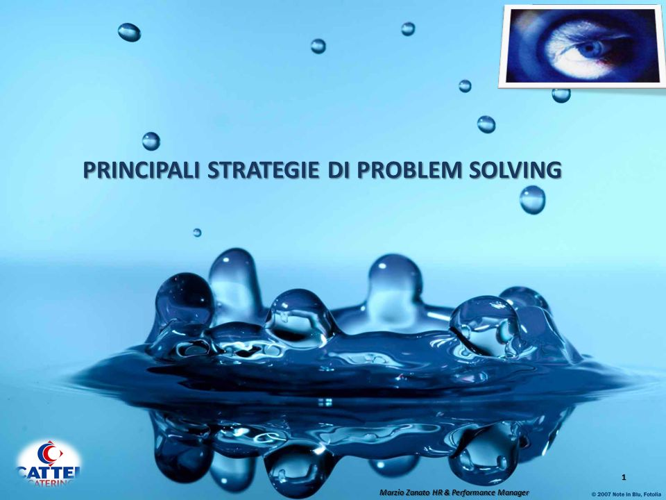 PRINCIPALI STRATEGIE DI PROBLEM SOLVING
