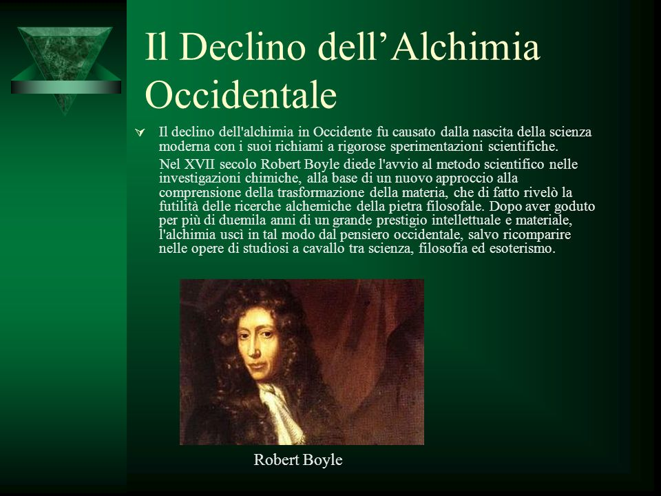 Il Declino dell'Alchimia Occidentale