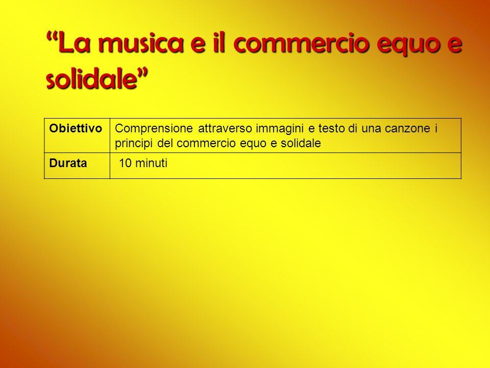 ''La musica e il commercio equo e solidale