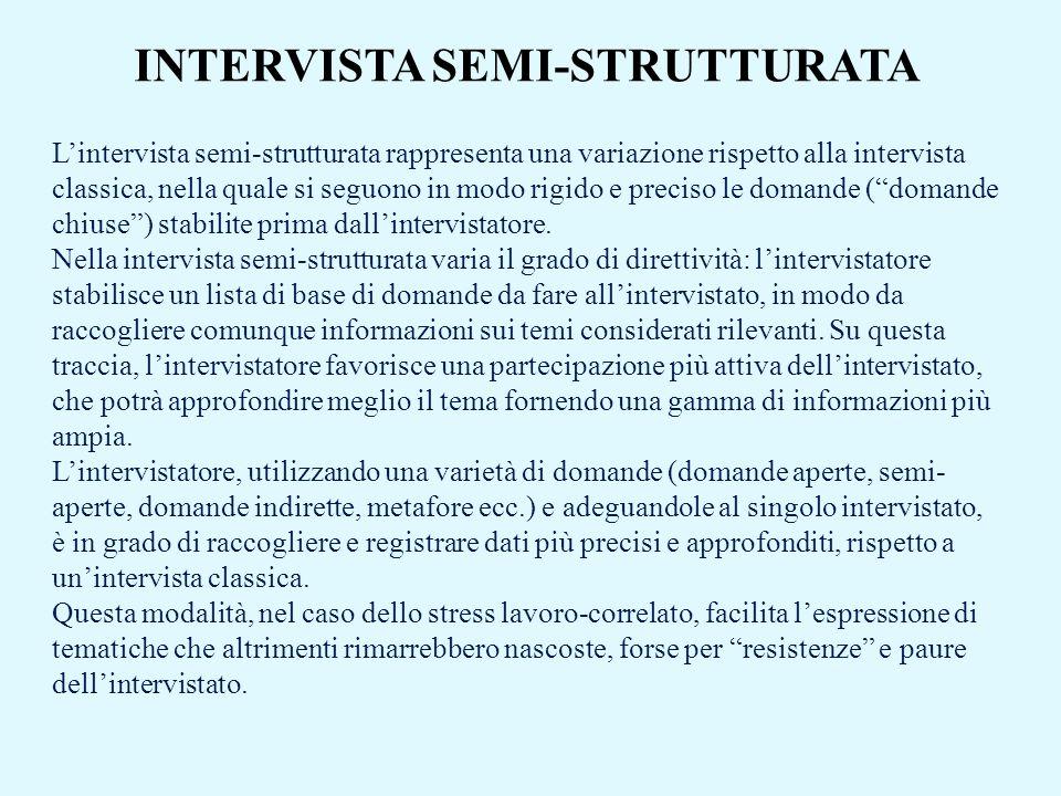 INTERVISTA SEMI-STRUTTURATA