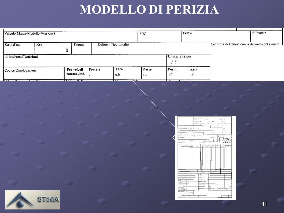 MODELLO DI PERIZIA ALFA ROMEO - 147 1.9 TURBODIESEL JTD CAT 3P. 07/07/01. DISCRETO. 60 % NERO METALLIZZATO.