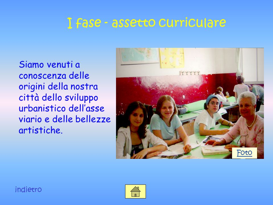 I fase - assetto curriculare