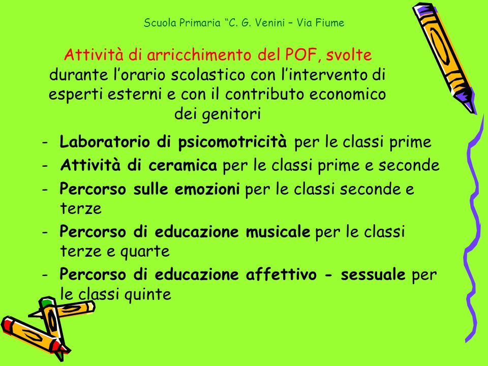 Scuola Primaria C. G. Venini – Via Fiume