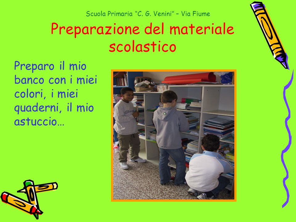 Preparazione del materiale scolastico