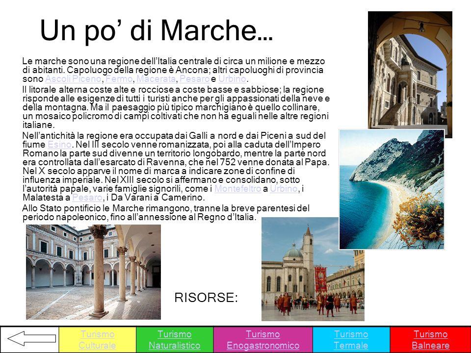 Un po' di Marche… RISORSE:
