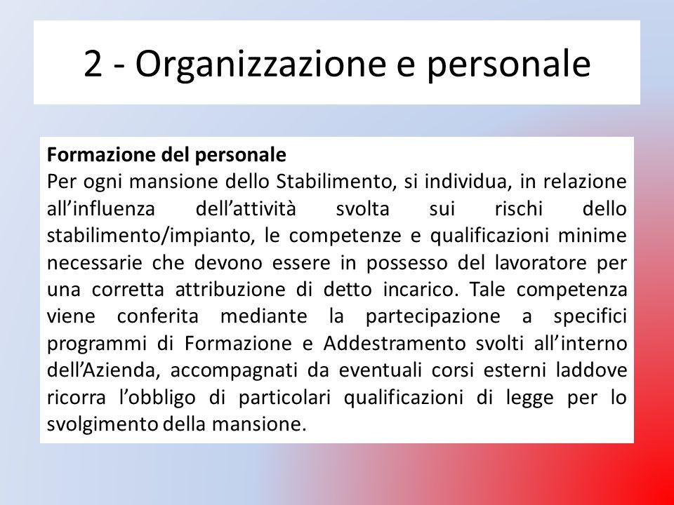 2 - Organizzazione e personale