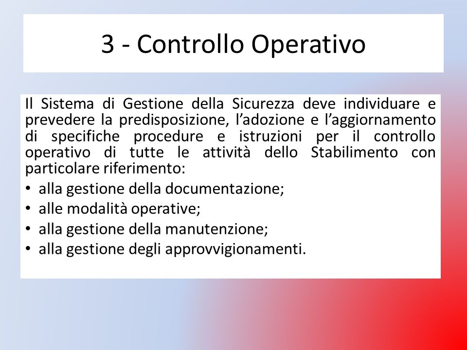 3 - Controllo Operativo