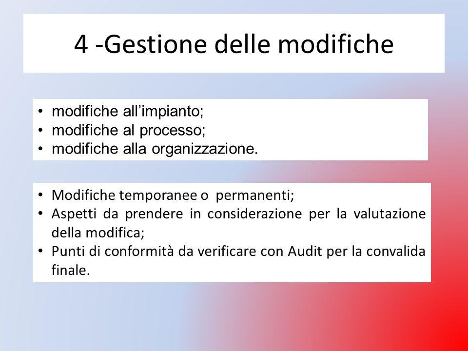 4 -Gestione delle modifiche