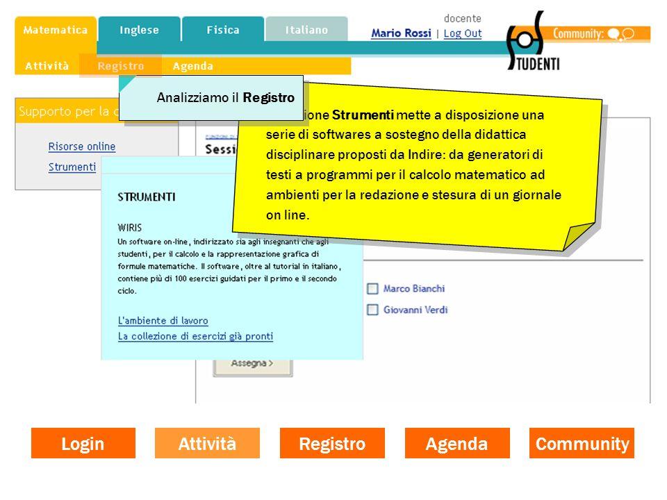 Login Attività Registro Agenda Community Analizziamo il Registro