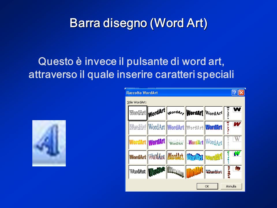 Barra disegno (Word Art)
