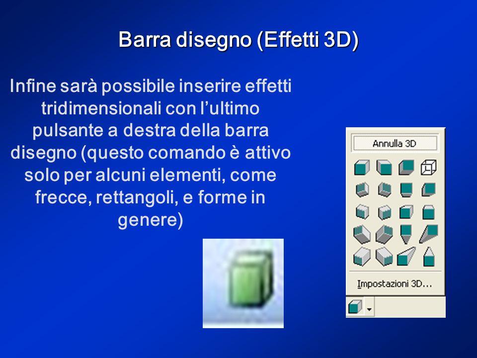 Barra disegno (Effetti 3D)
