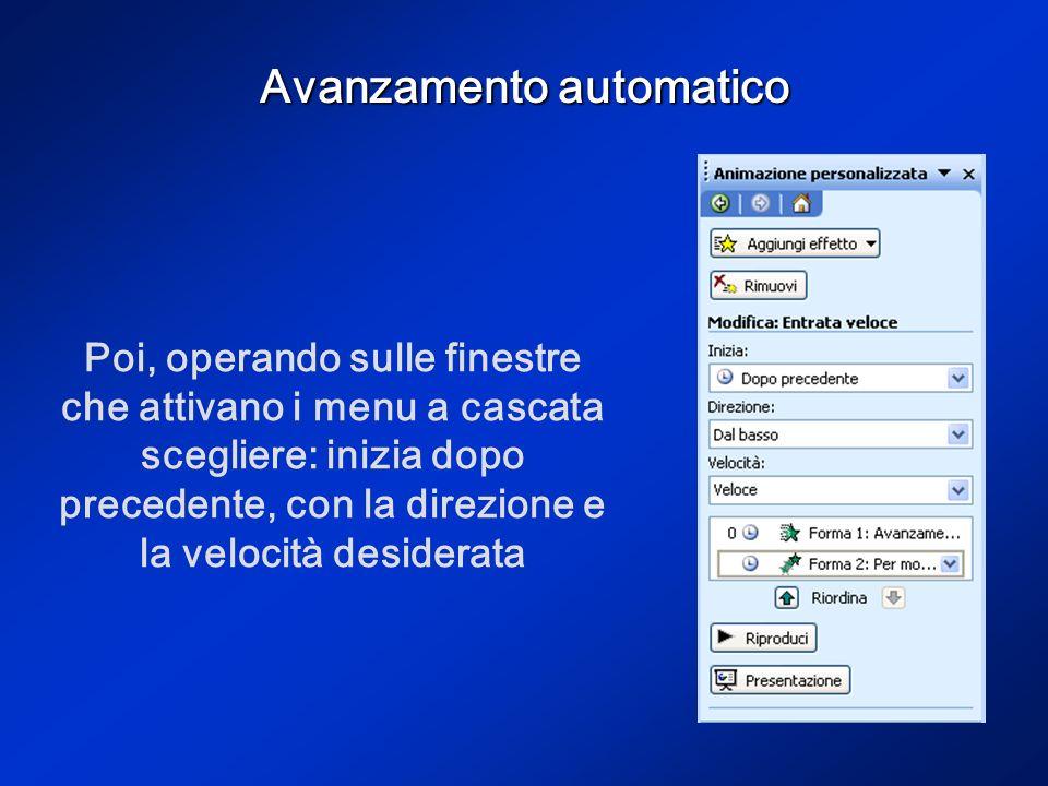 Avanzamento automatico