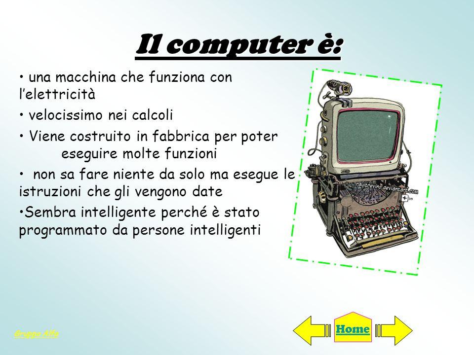 Il computer è: una macchina che funziona con l'elettricità