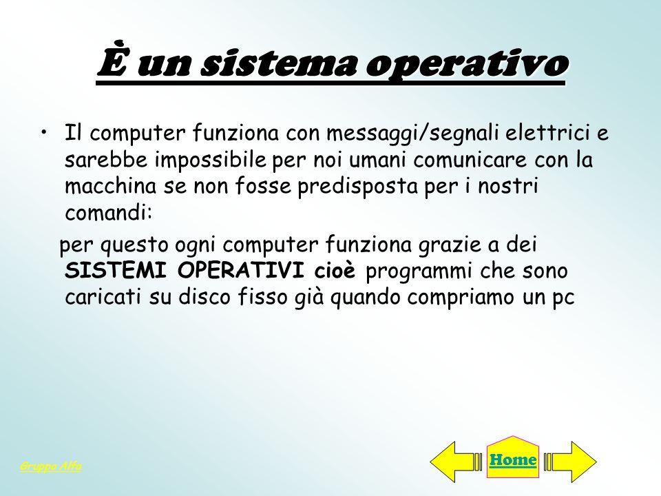 È un sistema operativo
