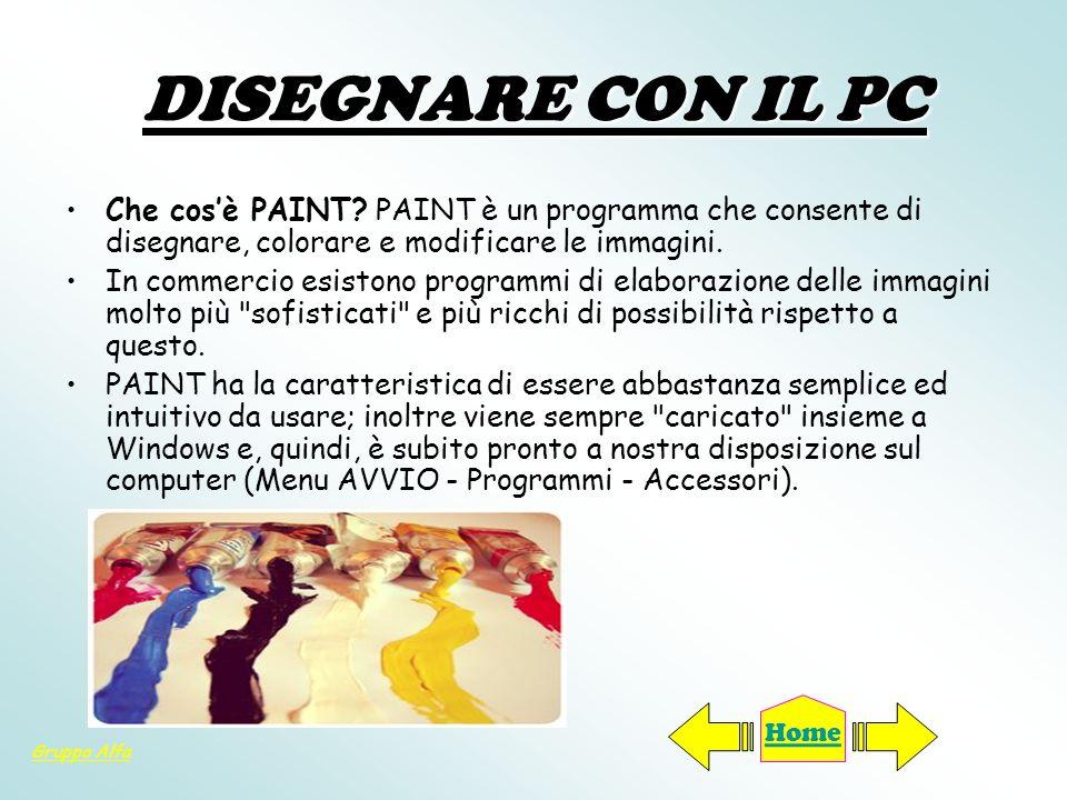 DISEGNARE CON IL PC Che cos'è PAINT PAINT è un programma che consente di disegnare, colorare e modificare le immagini.