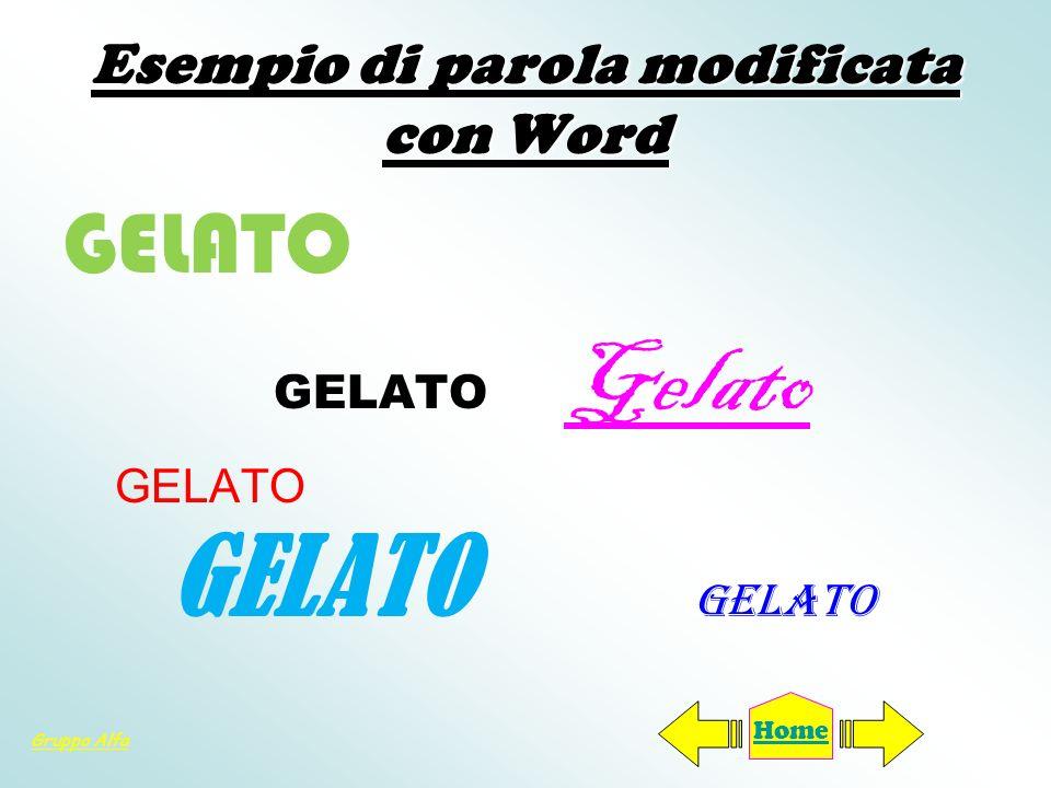 Esempio di parola modificata con Word