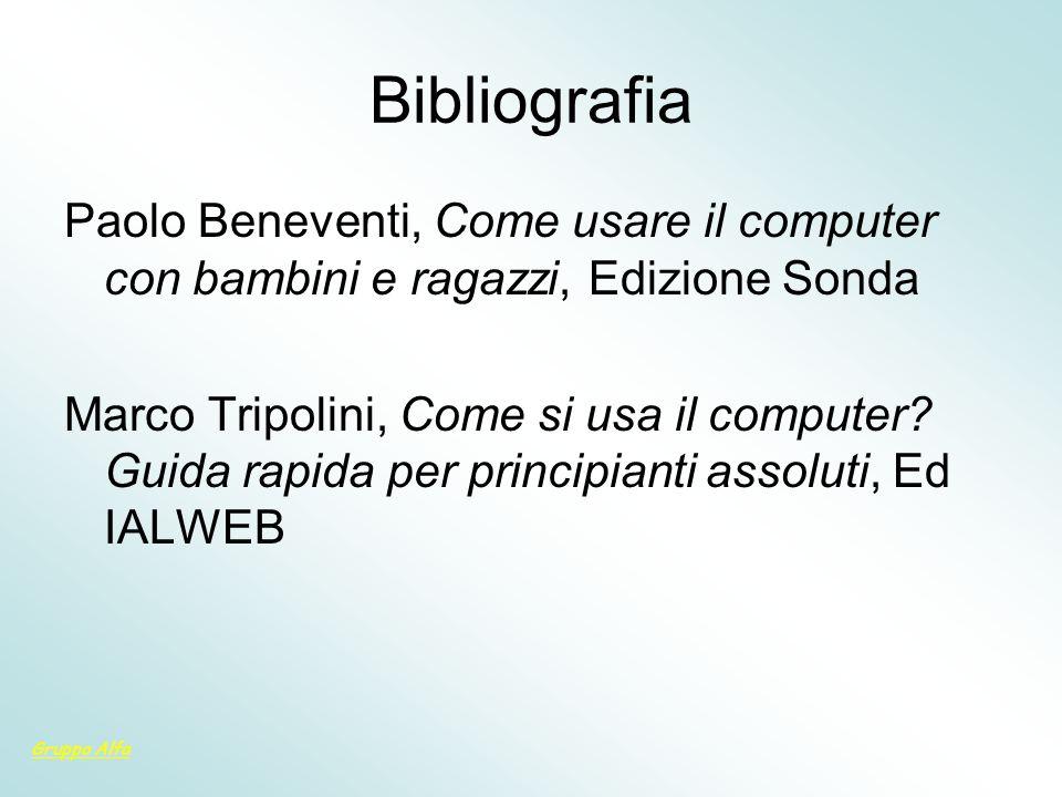 BibliografiaPaolo Beneventi, Come usare il computer con bambini e ragazzi, Edizione Sonda.