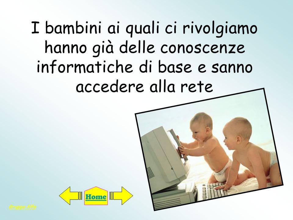 I bambini ai quali ci rivolgiamo hanno già delle conoscenze informatiche di base e sanno accedere alla rete