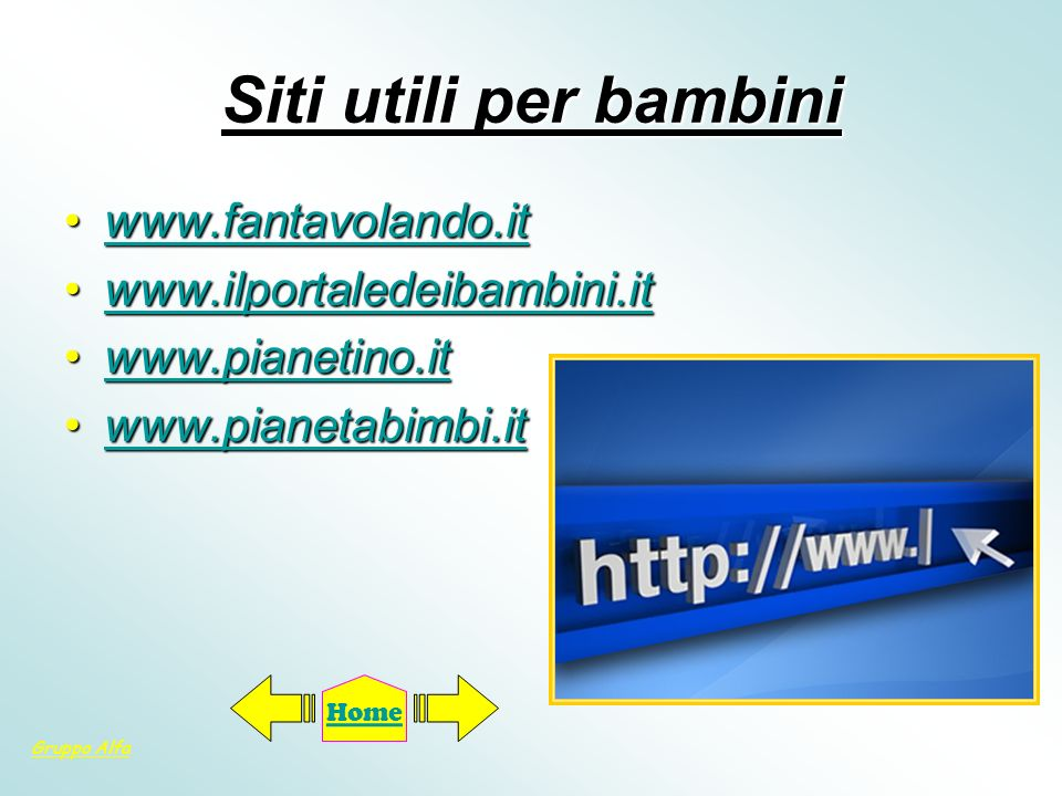 Siti utili per bambini www.fantavolando.it www.ilportaledeibambini.it